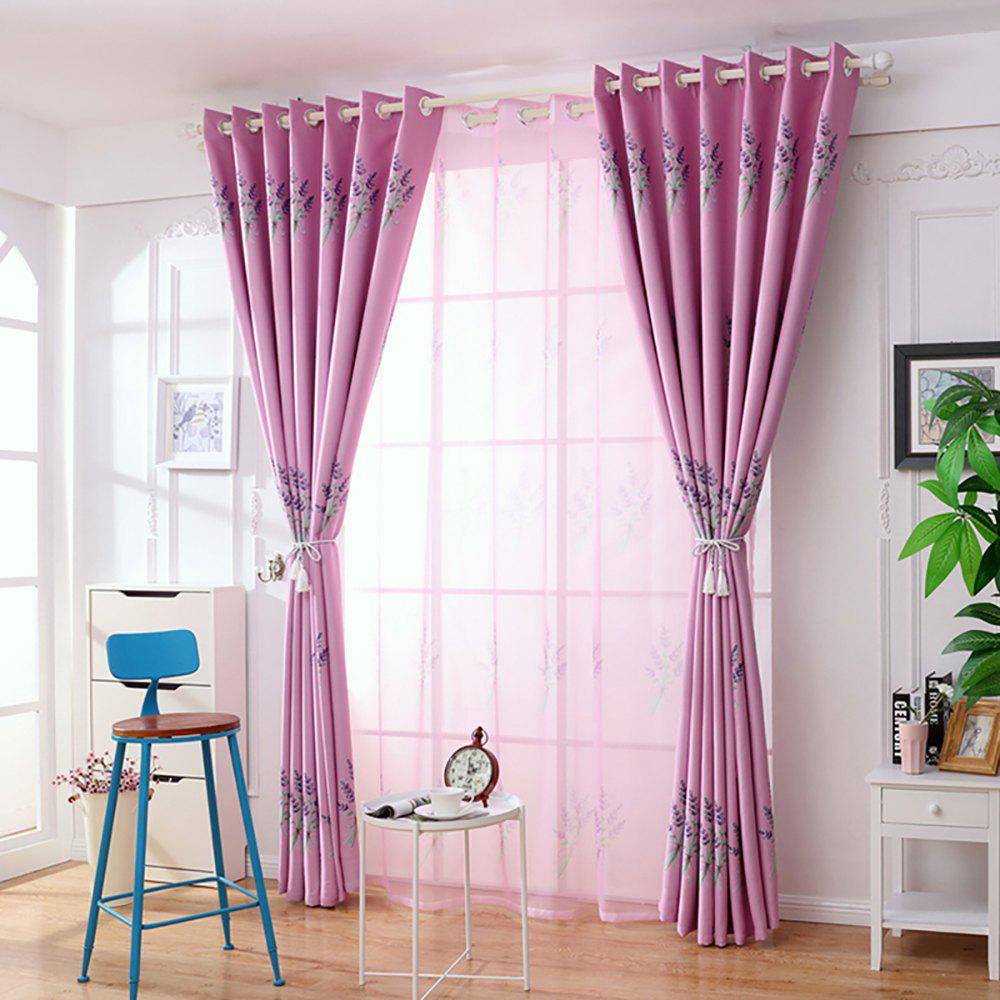 Chic Home Garden Small Fresh Printed Curtains