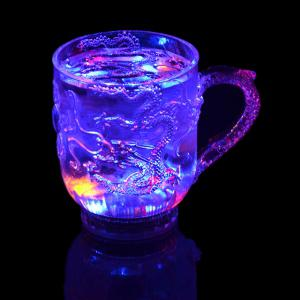 Engraved Tattoo Dragon   Lover Gifts Colorful Luminous LED Induction Magic Light Drinking Cup -