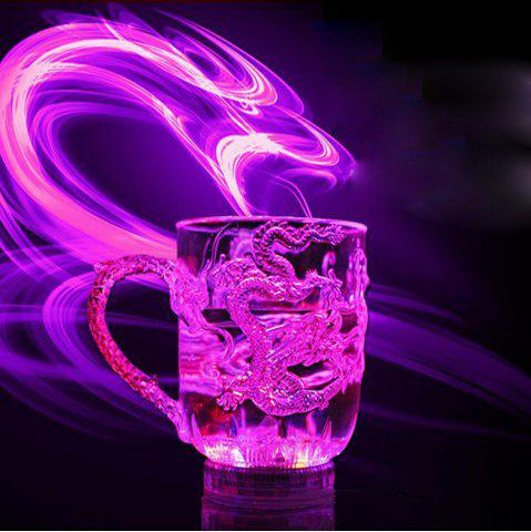 Best Engraved Tattoo Dragon   Lover Gifts Colorful Luminous LED Induction Magic Light Drinking Cup