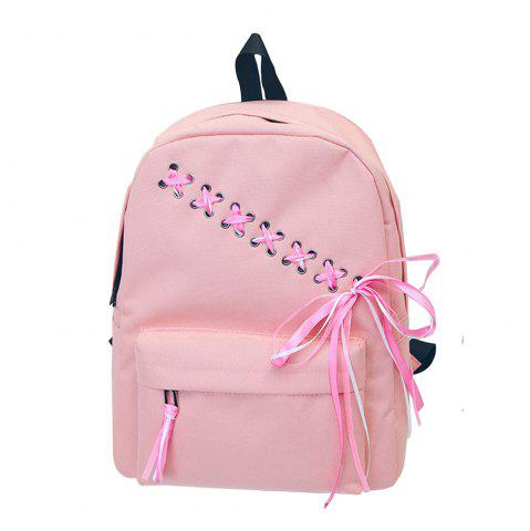 Best Women's Backpack Preppy Style Simple Bow Decor Sweet Back Bag