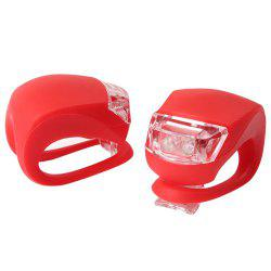 Cycling LED Front Silicone Battery Energy Rear Flash Warning Lamp  2 pcs -