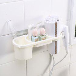 Hair Dryer Rack Non-Trace Blower Receive Bathroom Toilet Sucker Punched Shelf Free -