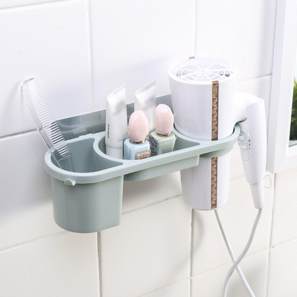 Affordable Hair Dryer Rack Non-Trace Blower Receive Bathroom Toilet Sucker Punched Shelf Free