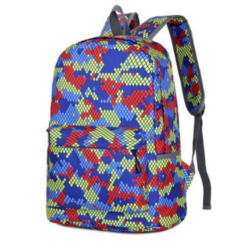 Trendy Camouflage Backpack 1052 Nylon Mesh Cloth