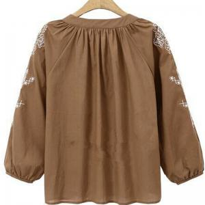 New and Large Size Women Folk Style Embroidery Blouse -