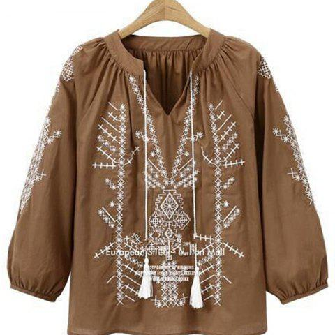 Fancy New and Large Size Women Folk Style Embroidery Blouse