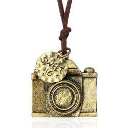 Stylish Personality Ornament Camera Pendant Sweater Chain Long Necklace -