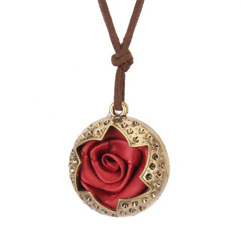 Trendy Fashion Ornaments Rose Pendant Necklace Sweater Chain