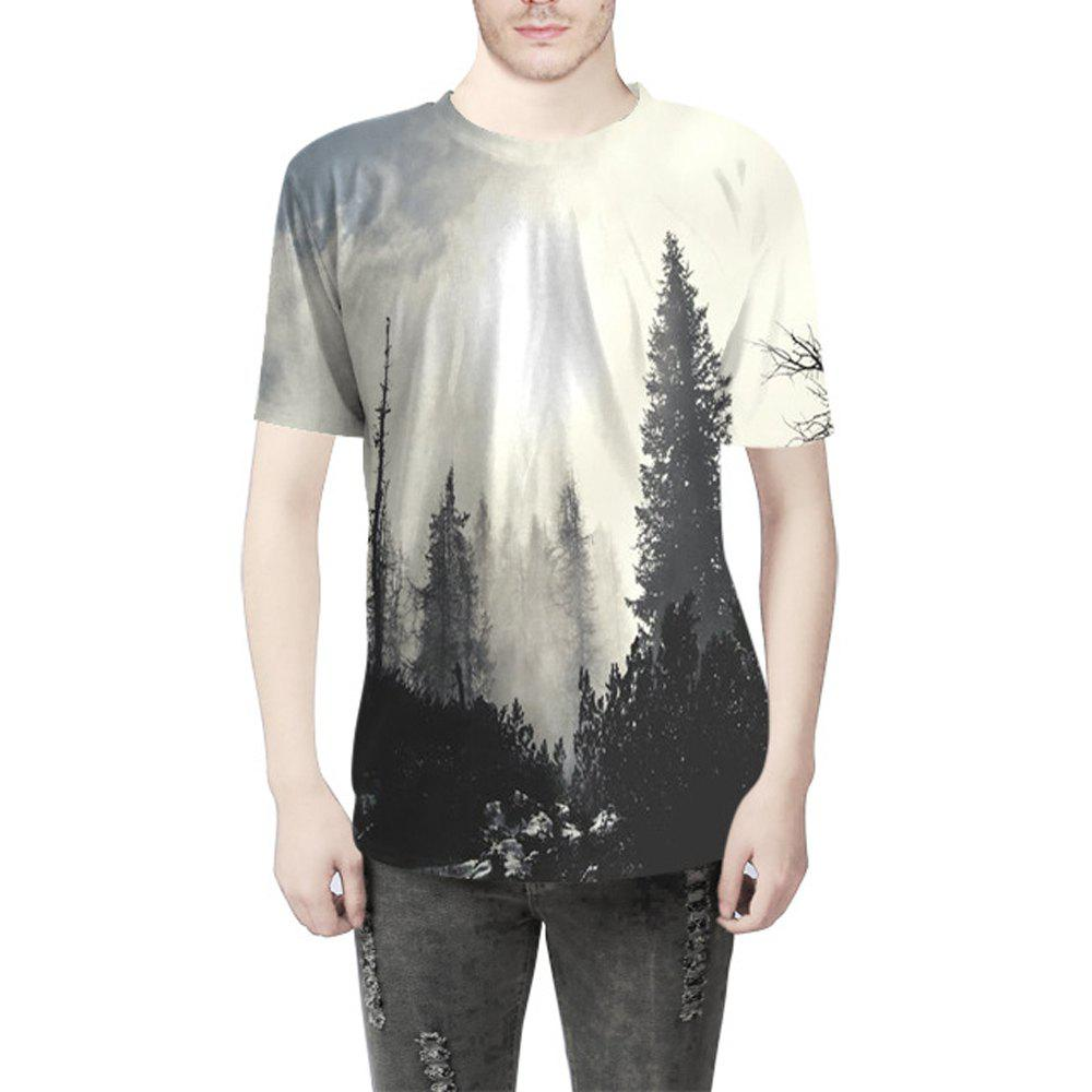 Outfit Landscape Digital Printing T-Shirt