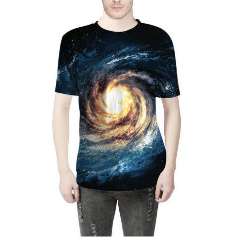 Shops Swirl Star Creative Digital Printing T-Shirt