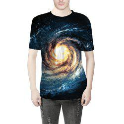 Swirl Star Creative Digital Printing T-Shirt -