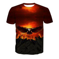 Eagle Print Short-Sleeved T-Shirt -