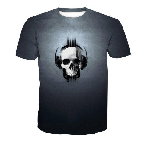 Shop Skeleton Print Short-Sleeved T-Shirt