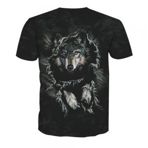Printed Wolf Short-Sleeved T-Shirt -