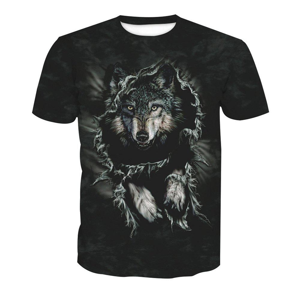 Shops Printed Wolf Short-Sleeved T-Shirt