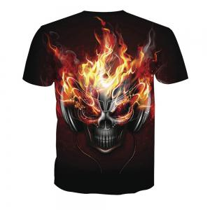 Skeleton Short Sleeve Printed T-Shirt -