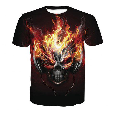 Hot Skeleton Short Sleeve Printed T-Shirt