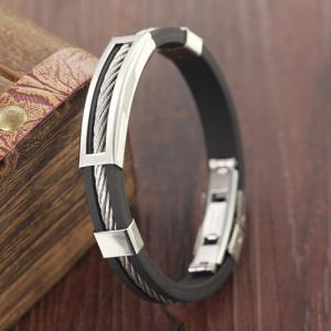 Men's Stainless Steel Magnetic Clasp Bracelet Wristband Bangle -
