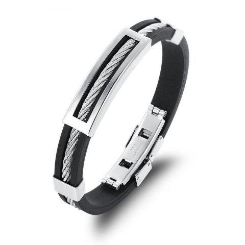 Affordable Men's Stainless Steel Magnetic Clasp Bracelet Wristband Bangle