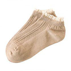 Sweet and lovely lace boat socks -