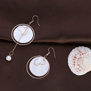 Asymmetric Shell Round Earrings -