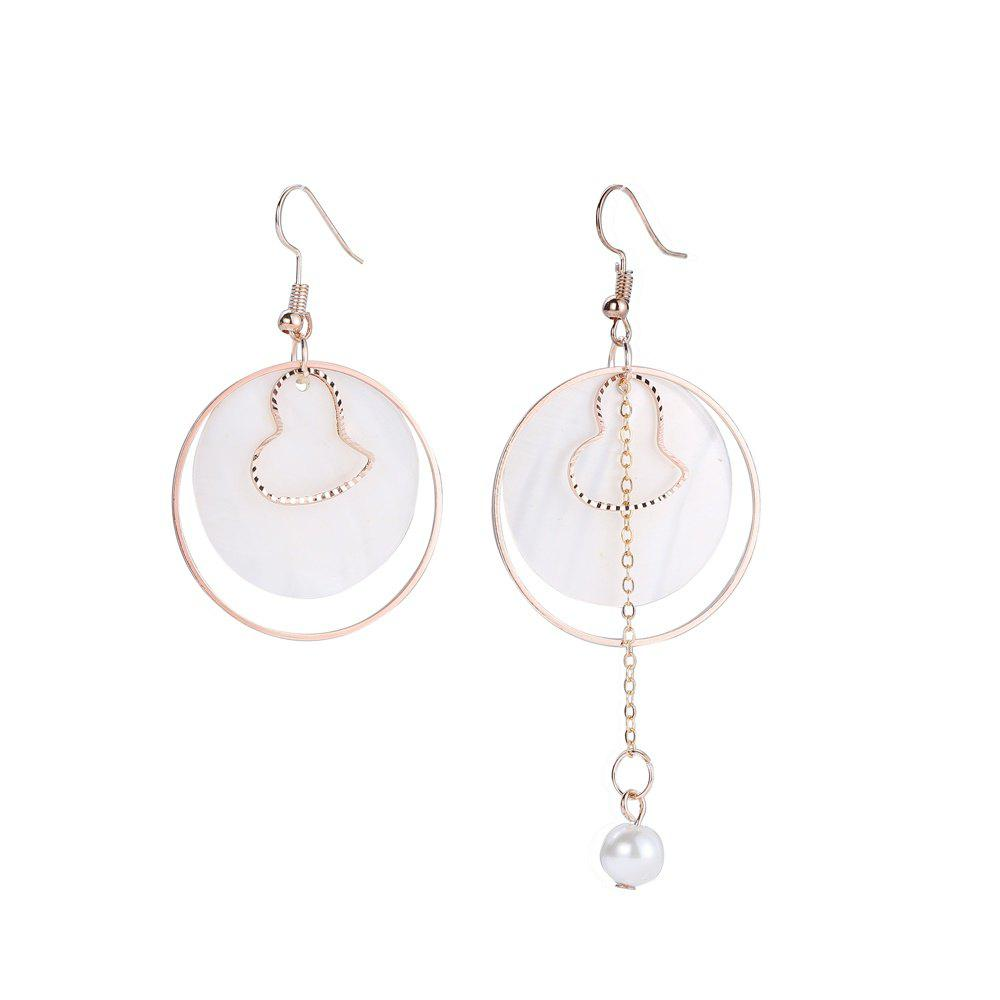Outfit Asymmetric Shell Round Earrings