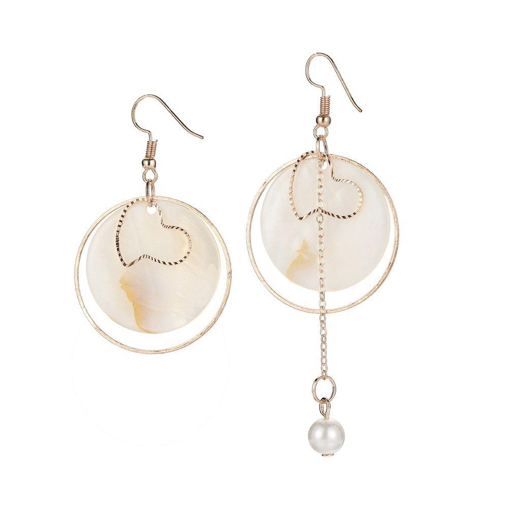 Hot Asymmetric Shell Round Earrings