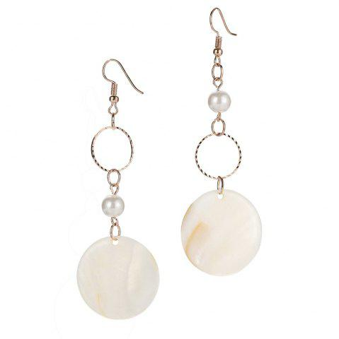 Fashion Round Shell Drop Earrings