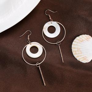 Boucles d'oreilles rondes Fashion Shell -