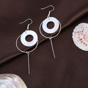 Fashion Shell Round Earrings -