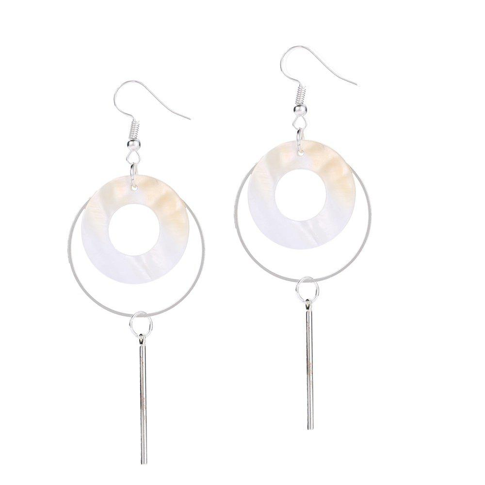 Boucles d'oreilles rondes Fashion Shell