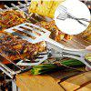 Stainless Steel BBQ Tongs Polished Burger Bread Meat Grilling Clip Reverse Lever Design Tong for Barbecue Buffet Tools -