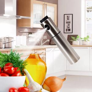 Stainless Steel Olive Pump Bottle Sprayer Oil Jar Pot Cookware Kitchen Tool -