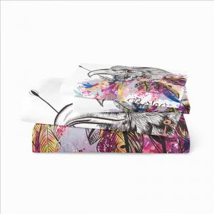 Bohemia 3D Series of Eagle Feathery Bedding Three Pieces and Four Pieces of AS30 -