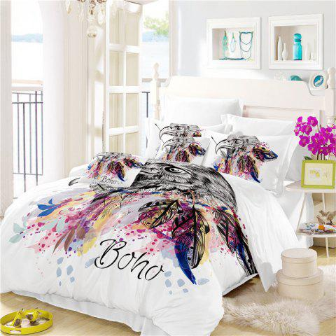 Online Bohemia 3D Series of Eagle Feathery Bedding Three Pieces and Four Pieces of AS30