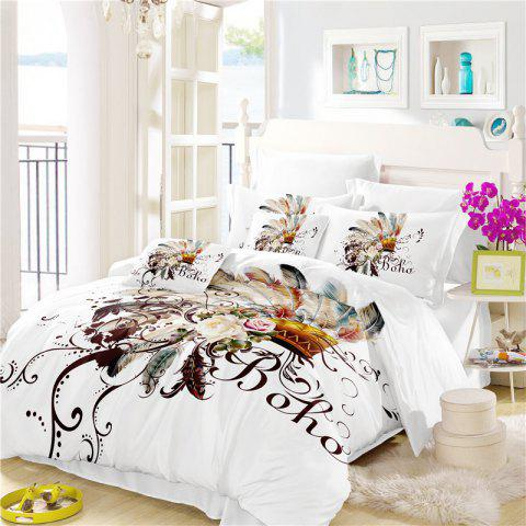 New Bohemia 3D Series Petal Feathery Bedding Three Piece Four Piece Set AS31