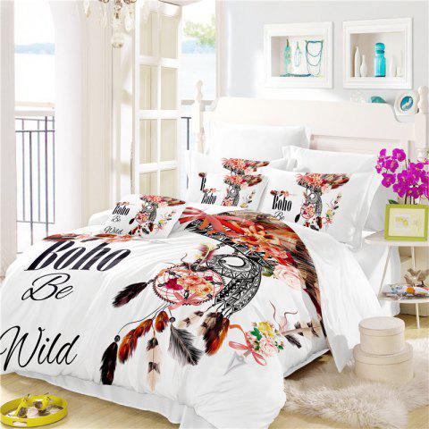Best Bohemia 3D Series of Angry Birds Feathery Bedding Three Pieces Four Pieces Set AS32