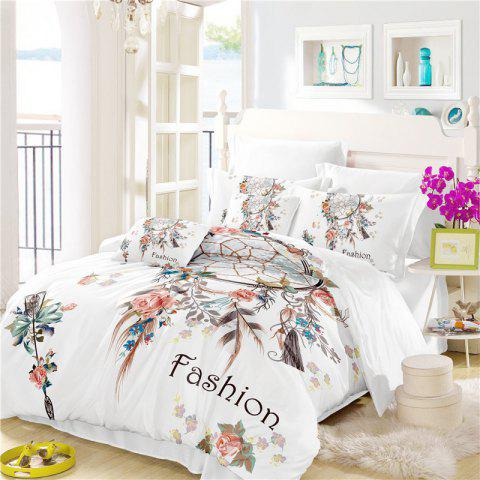 Online Bohemia 3D series Necklace three piece feather bedding set of four AS33