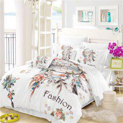 Bohemia 3D series Necklace three piece feather bedding set of four AS33 -
