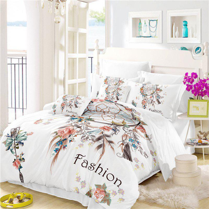 Store Bohemia 3D series Necklace three piece feather bedding set of four AS33