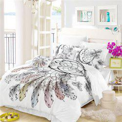 Bohemia 3D Series Necklace Three Piece Feather Bedding Set of Four AS34 -