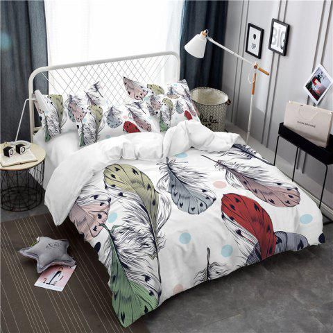 Trendy Bohemia 3D Series of Colorful Feather Bedding Three Piece Four Piece AS35