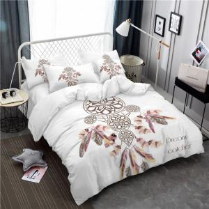 Bohemia 3D Series Necklace Three Piece Feather Bedding Set of Four AS37 -