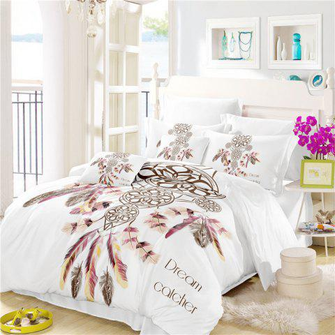 Online Bohemia 3D Series Necklace Three Piece Feather Bedding Set of Four AS37