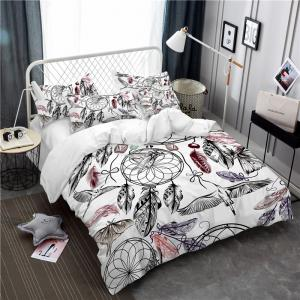 Bohemia 3D Series Mountain Painting Three Piece Bedding Crane Four Sets AS38 -