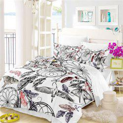 Богемия 3D-серии Mountain Painting Three Piece Bedding Crane Четыре комплекта AS38 -