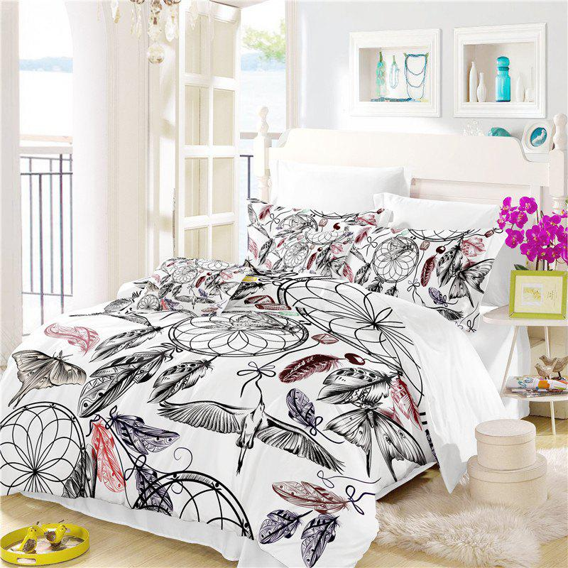 Cheap Bohemia 3D Series Mountain Painting Three Piece Bedding Crane Four Sets AS38