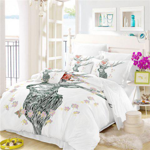 Outfits Bohemia 3D series of landscape ink painting Mountain Deer bedding three piece four piece set AS40