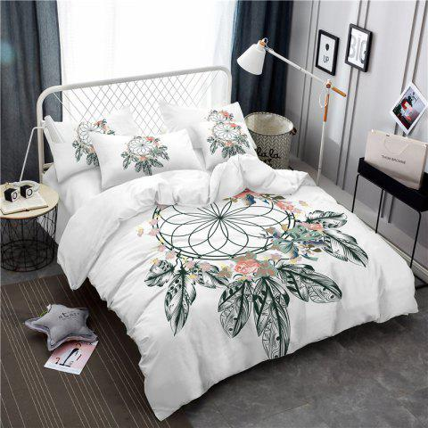 Cheap Bohemia 3D series painting flower necklace bedding three piece four piece AS41