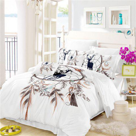 New Bohemia 3D Series of Landscape Ink Painting Mountain Deer Bedding Three Piece Four Piece Set AS42
